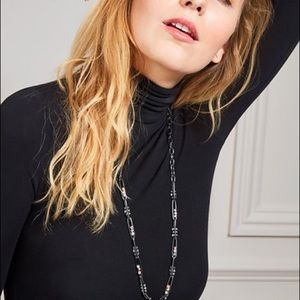 Stella and dot sparkle and link hematite necklace